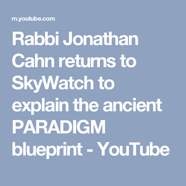 Rabbi jonathan cahn returns to skywatch to explain the ancient rabbi jonathan cahn returns to skywatch to explain the ancient paradigm blueprint malvernweather Gallery