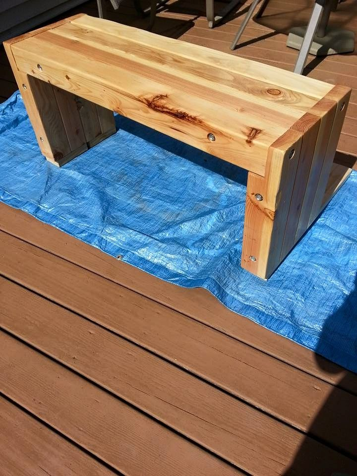 Rustic 4x4 Bench Diy Wood Projects Diy Garden Furniture Rustic Furniture Diy