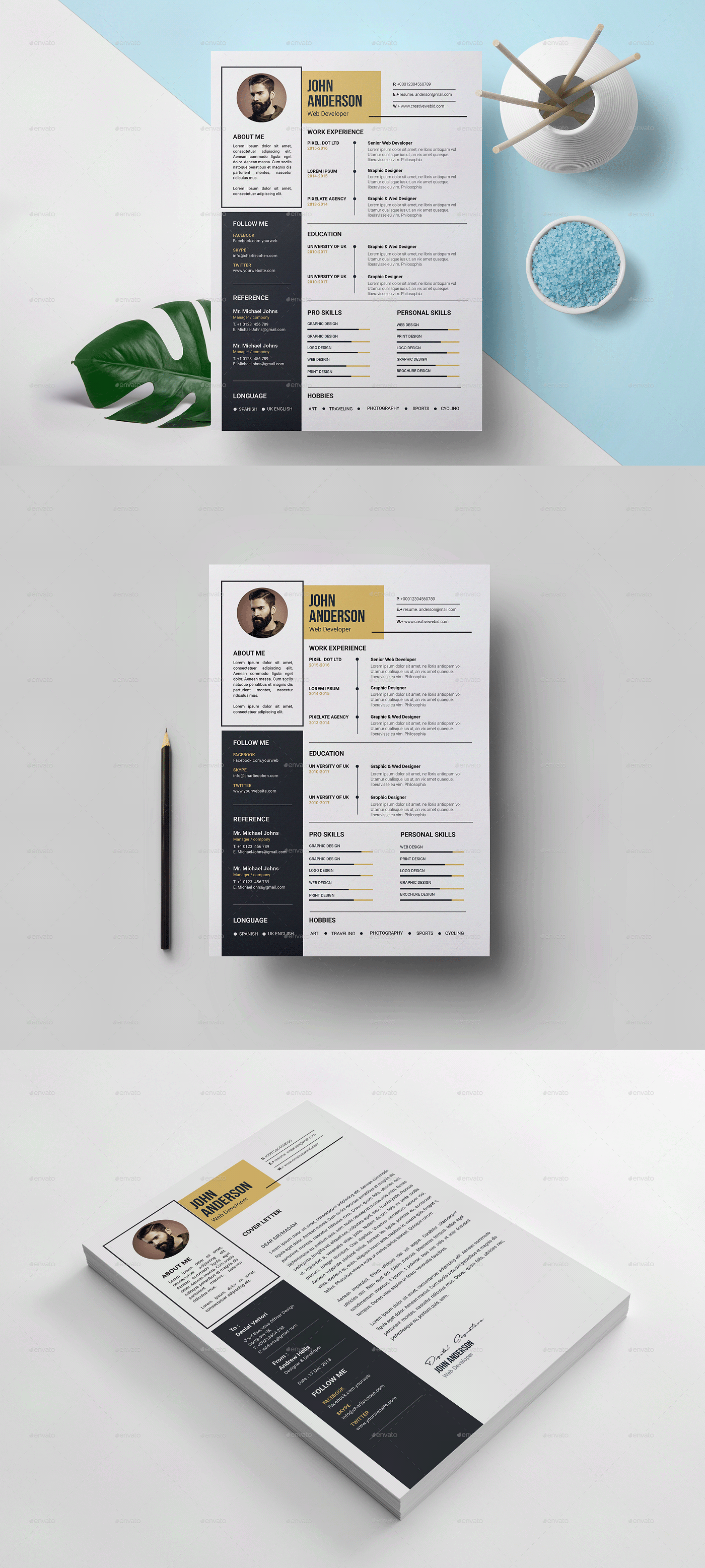 A4 Paper Size Resume Template Resume Template Downloadable Resume Template Templates
