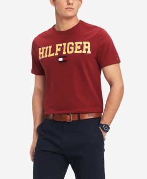 bbd7d03e2444 Tommy Hilfiger Men s Collegiate Logo Graphic T-Shirt - Red M ...