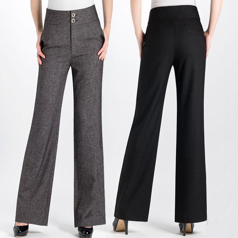 Encontrar Más Pantalones y Capris Información acerca de Mujeres pantalones  anchos de la pierna femenina Altavoz 9774b9874f1