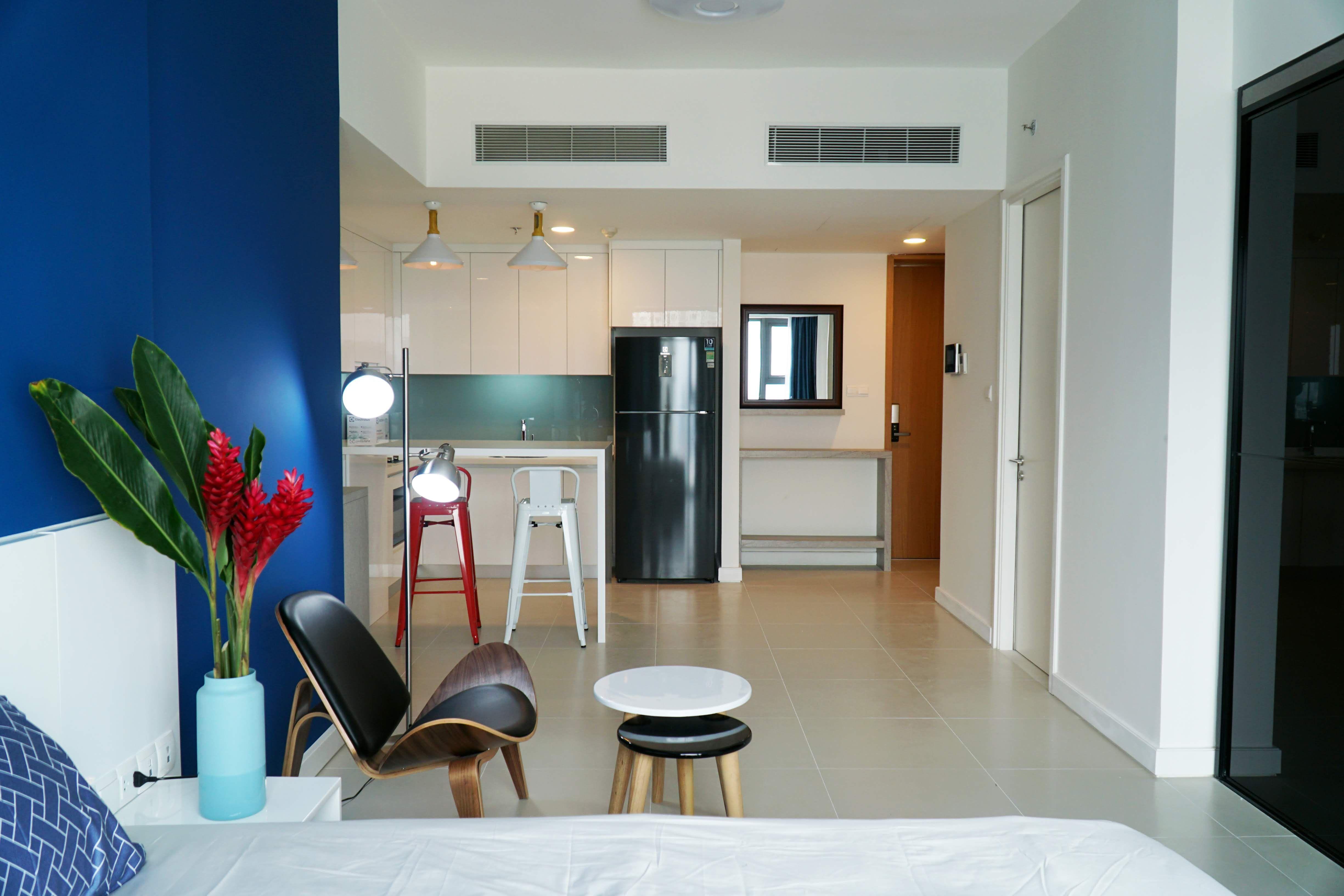 Gateway Thao Dien Studio Apartment For Rent Fully Furnished High Floor Furnished Studio Apartments Apartments For Rent Studio Apartment