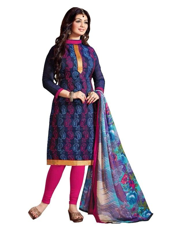 Chanderi Multicolor Salwar Suit - EBSFSKRB334066