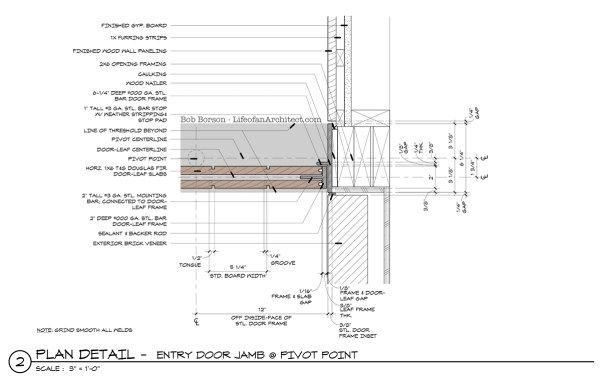 Off Center Pivot Door Jamb Detail Pivot Point By Dallas