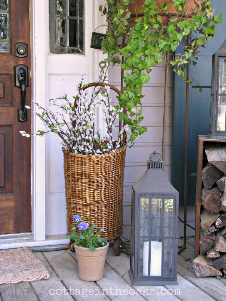 Front Porch Decorating Ideas spring front porch | market baskets, porch and english
