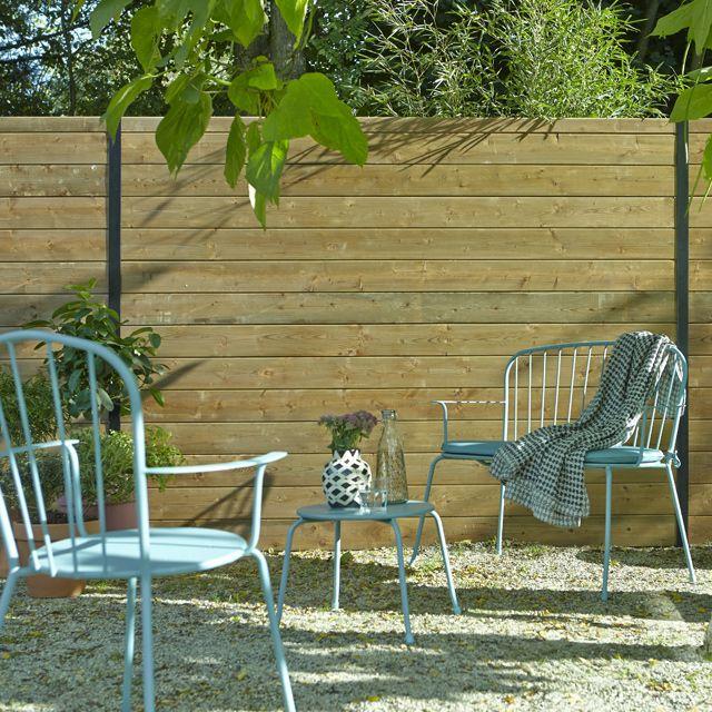Top panneau bois castorama with palissade en bois castorama - Castorama jardin panneau bois besancon ...