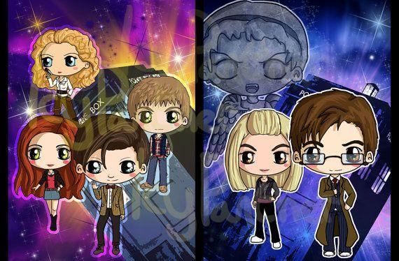 Doctor Who Chibi Print - Eleventh Doctor Chibi Print ...