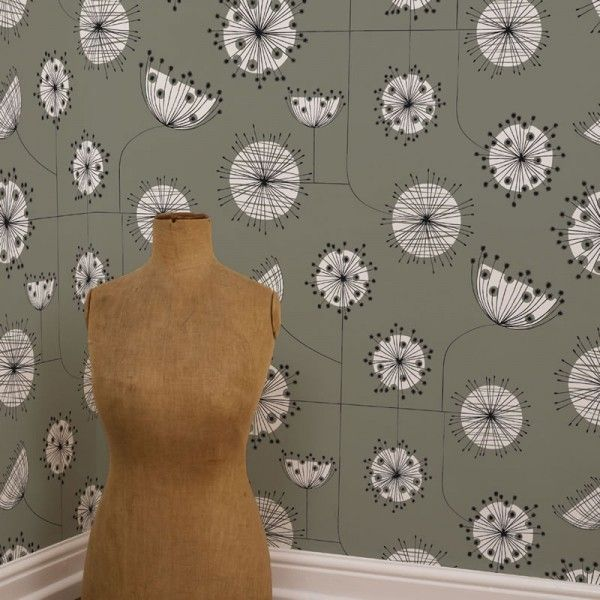 DANDELION MOBILE GREY WITH WHITE WALLPAPER. £59.95. By Miss print.