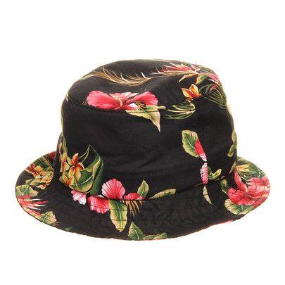 HUF - Hawaiian Bucket Hat (Black Blossom) e2c535caa987