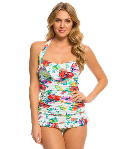 4345b7bcaba28 BLEU Rod Beattie Fresh Start Ruffle Bandeau Tankini Top | Kim ...