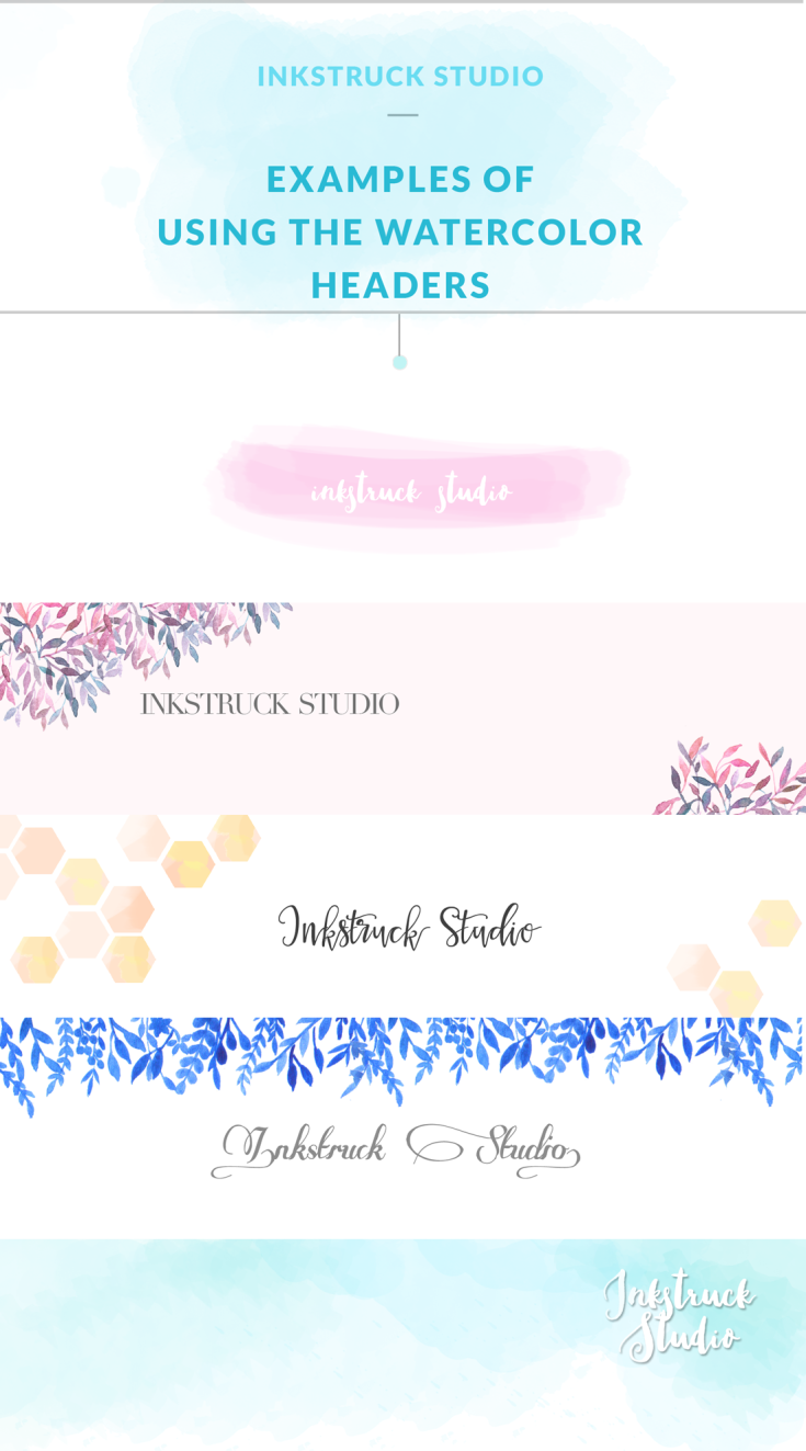 FREE WATERCOLOR BLOG HEADERS | Header, Watercolor and Website