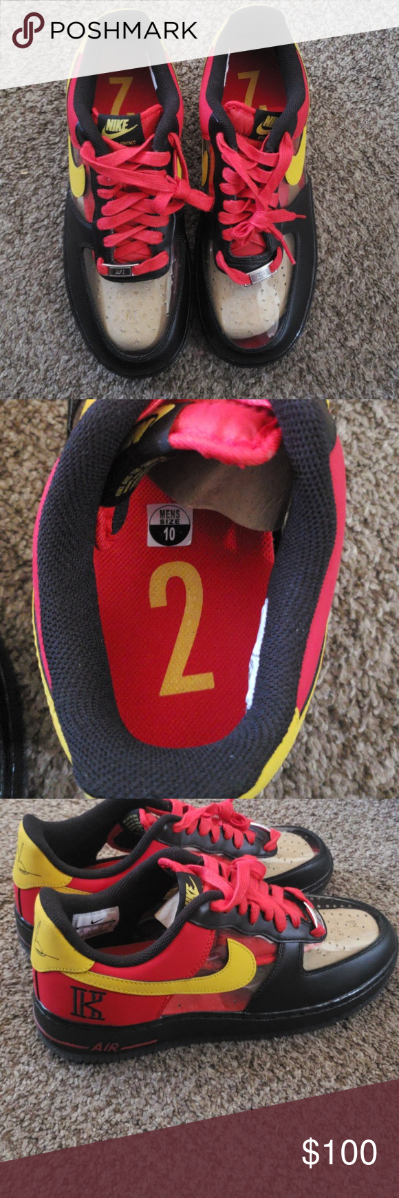 best loved cd5b0 f62da Air Force 1 Low Kyrie Irving Black Red. If you like Air ...