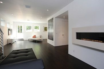 Loving The No Baseboard Look Contemporary Living Room