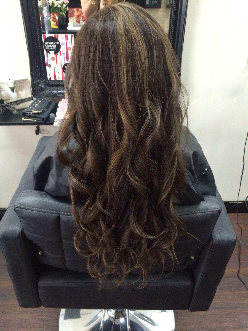 Image Result For Half Head Highlights On Black Hair Hair Highlights Hairstyles With Bangs Brown Hair Bangs