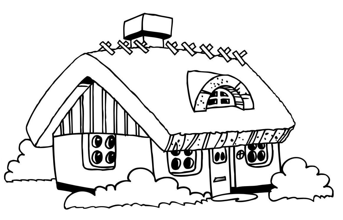 18 Printable Coloring Page Of A House House Colouring Pages Printable Coloring Pages Coloring Pages