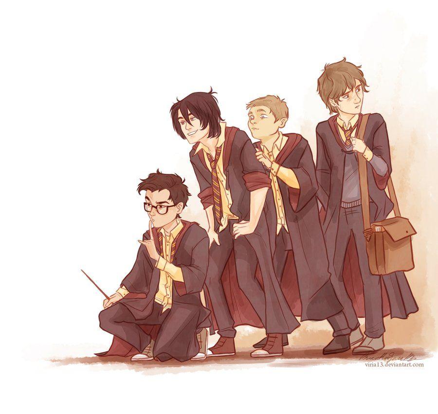 Young Marauders Harry Potter Fan Art James Potter Harry Potter Art