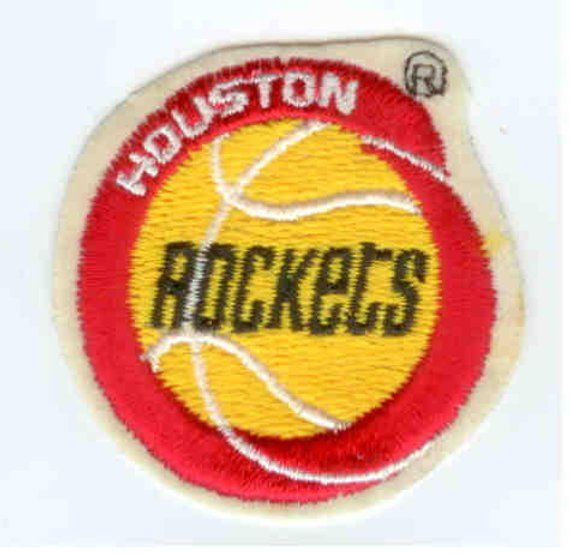 wholesale dealer 87b44 f0453 Houston Rockets NBA Basketball Logo Yellow Red White Old ...