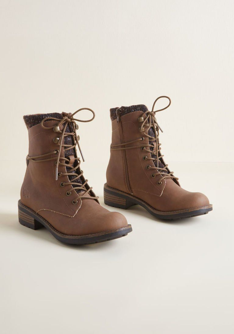 095ede3682e3 Heads or Trails Lace-Up Boot in Brown in 11 by Rocket Dog from ModCloth