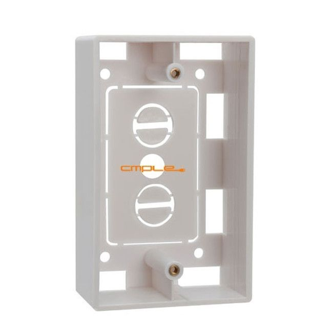 Cmple surface mount junction box for single gang wall plates cmple surface mount junction box for single gang wall plates white sciox Choice Image