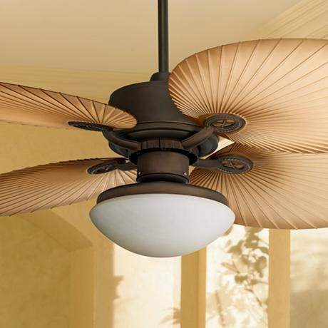 52 Casa Vieja Aerostat Wide Palm Blades Outdoor Ceiling Fan