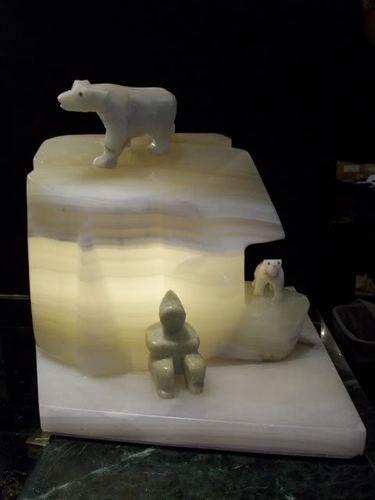 art deco polar bears