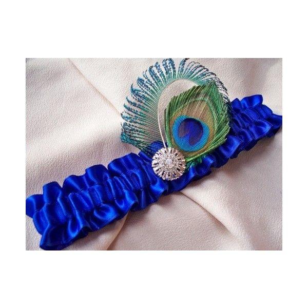 Funny Wedding Garters: Peacock Royal Blue Wedding Garter : Allofyou