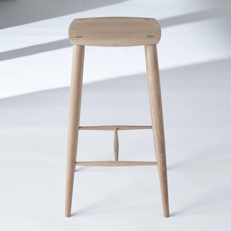 Hand Crafted White Oak Counter Stool By Coolican And Company For Sale At 1stdibs Stool Counter Stools Vintage Stool