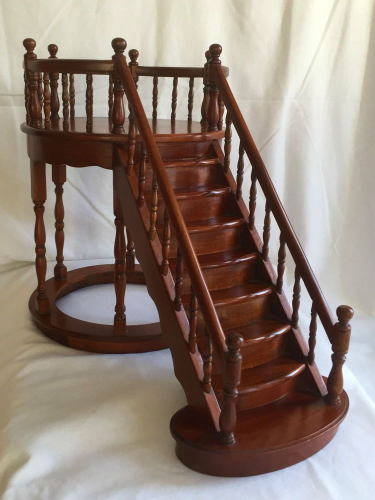 ARCHITECTS MINIATURE MAHOGANY MODEL STAIRCASE SALESMAN SAMPLE