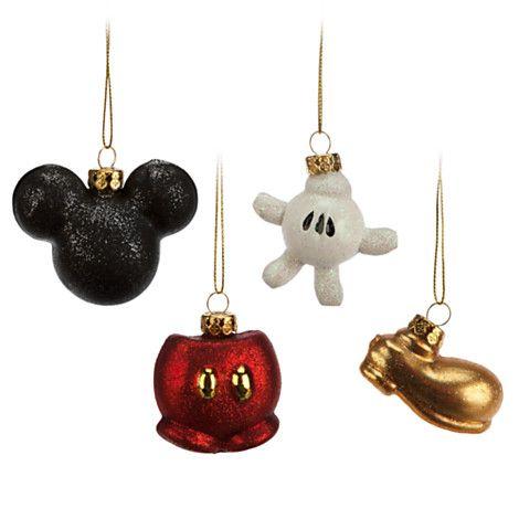 Mickey Mouse Glass Ornament Set Disney Holidays Disney Christmas