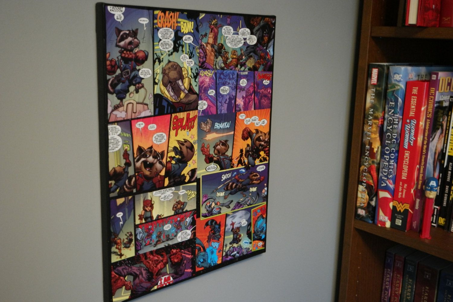 Marvel Guardians Of The Galaxy 12 X 16 Comic Book Canvas Wall