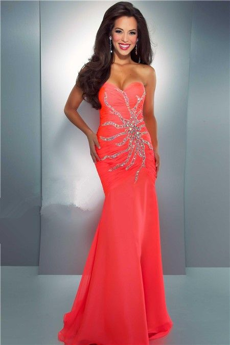 neon Mermaid prom Dress | Mermaid Trumpet Sweetheart Long Neon ...