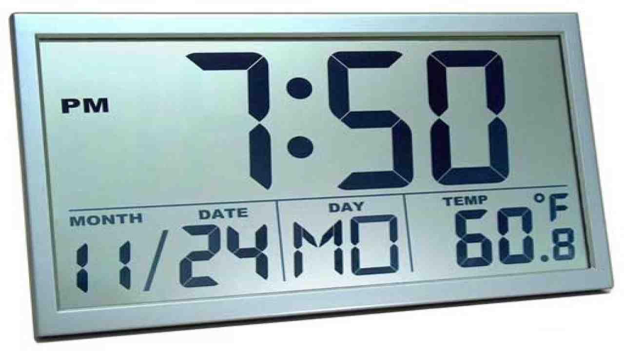 Large Digital Atomic Wall Clock Atomic Wall Clock Large Digital Wall Clock Wall Clock With Date