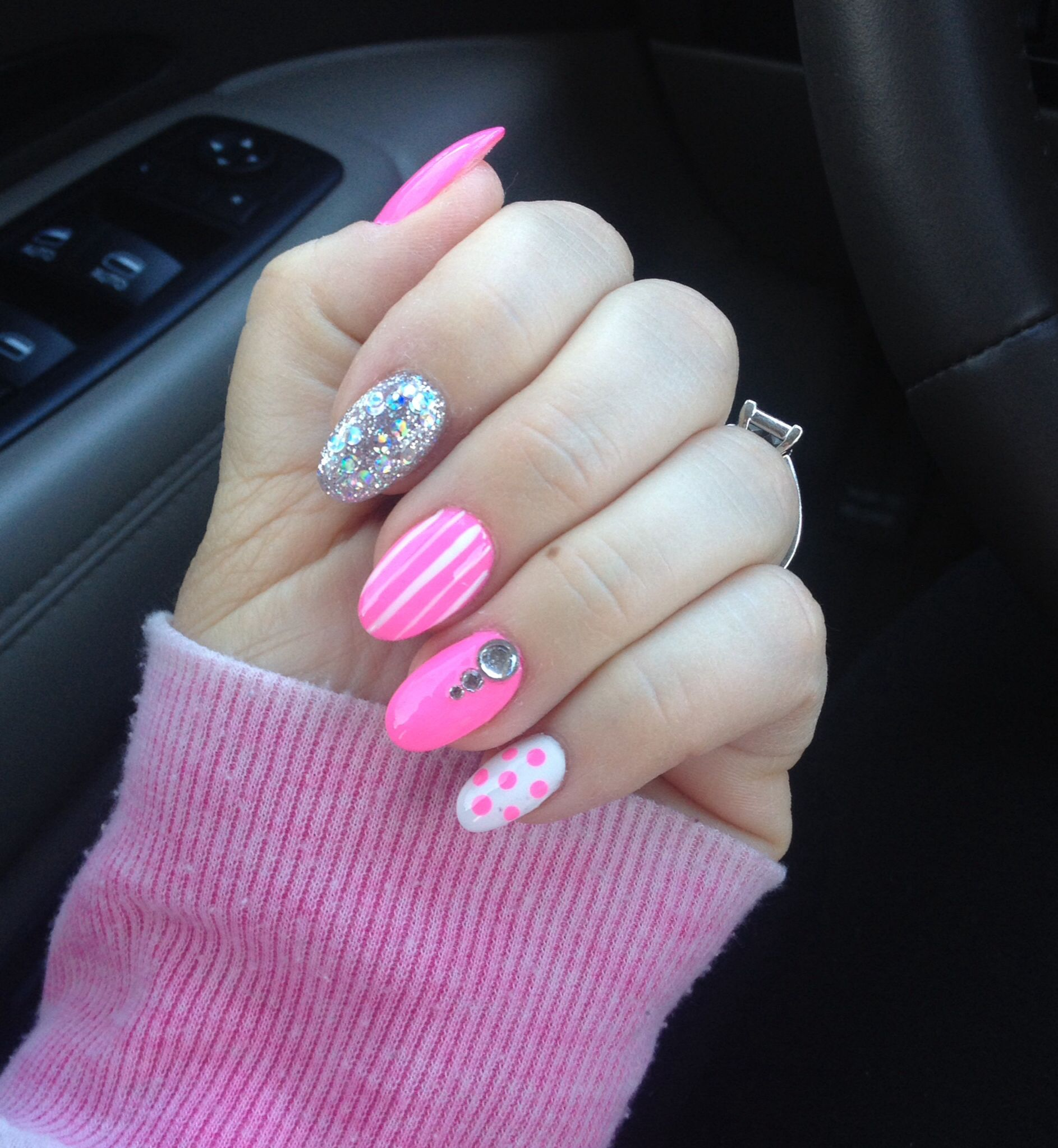 My Almond shape nails! | My Pinterest re-creations ...