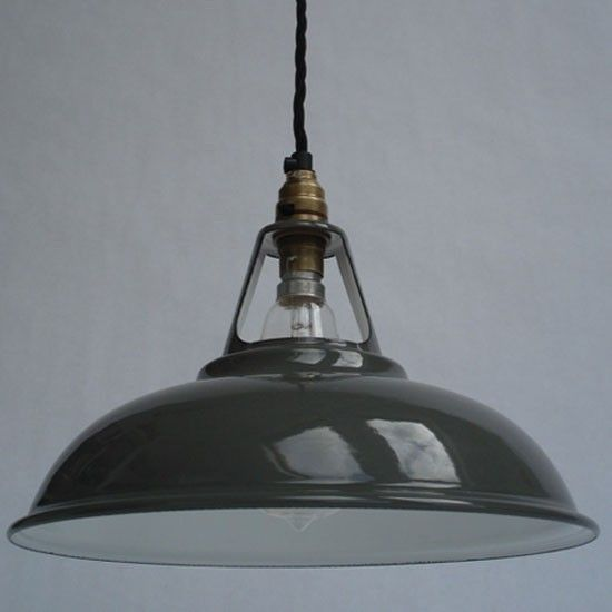 Vintage Industrial Enamel Pendant Light: Desk Lamps - Our Pick Of The Best