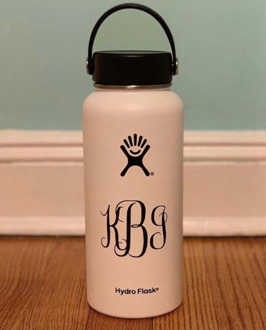 Monogram Hydroflask Sticker Hydroflask Monogram Bottle