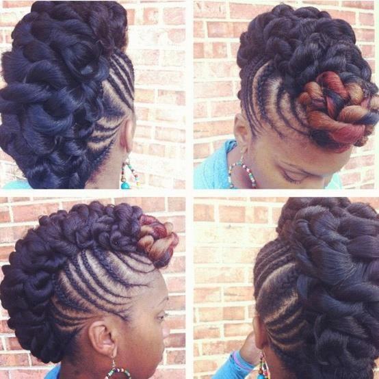 twist mohawk natural hair
