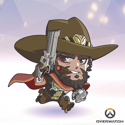 All The Cute But Deadly Sprays From Overwatch Imgur Mccree Overwatch Chibi Overwatch Overwatch