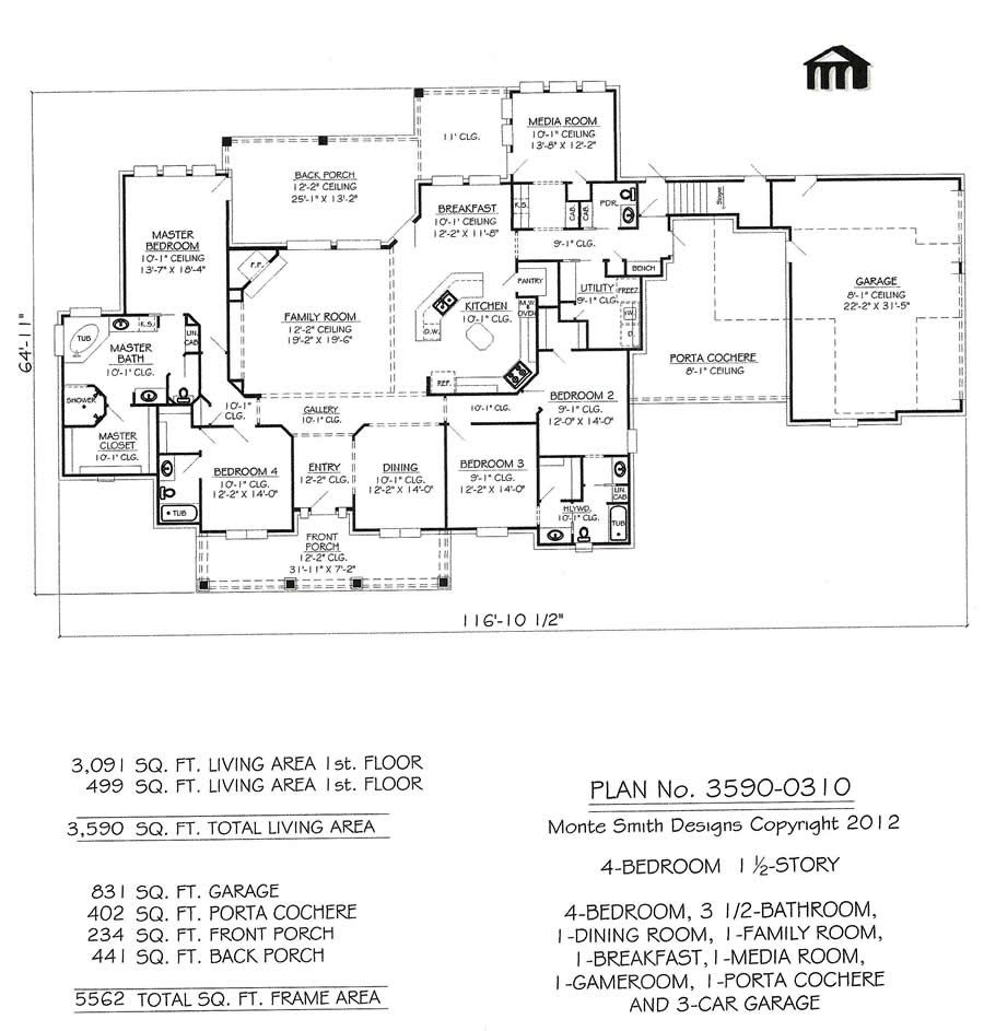 3590 0310 House Plan Design Online Texas And Hawaii Offices 1 Story House House Plans How To Plan