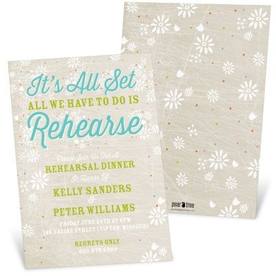 New Rehearsal Dinner Invitations from @Pear Tree Greetings - formal dinner invitation sample