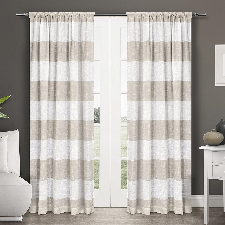 Ba bathroom curtains at sears - Exclusive Home Darma Rod Pocket Window Curtain Panels 50 X 108 Linen
