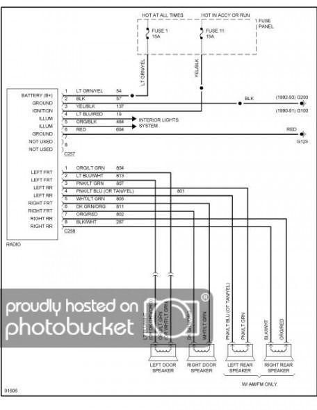 1990 Ford Ranger Radio Wiring Diagram