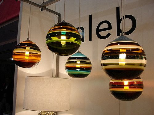 Art glass pendant lights by Caleb Siemon | Glass pendant