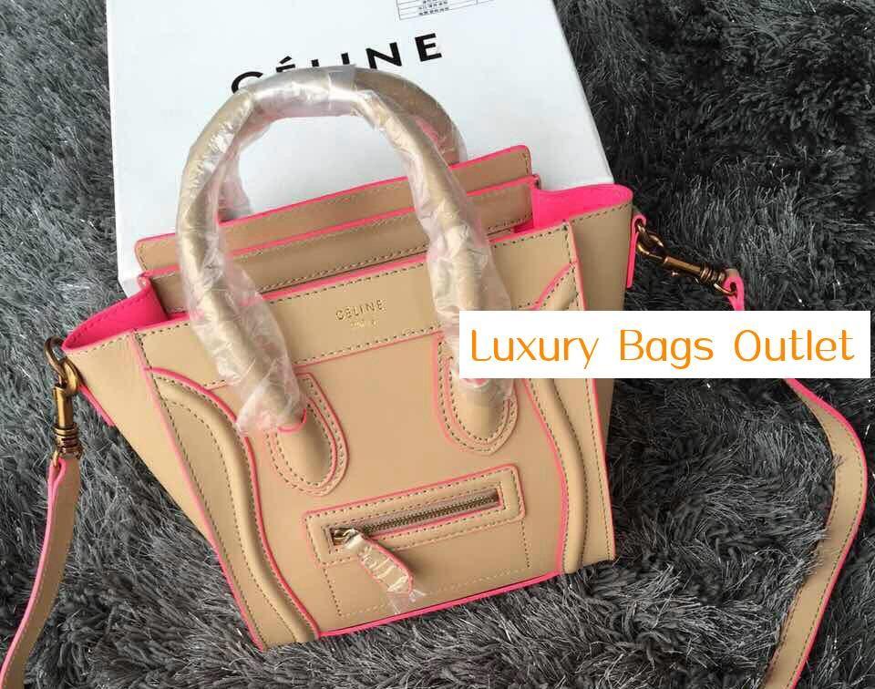 Classic Celine Nano bag Celine Classic Nano Luggage Bag Apricot ... 2ff0c36652f9d