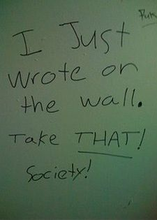 Toilet Graffiti The Writings On The Wall Bathroom Graffiti Wall Writing Amazing Bathrooms