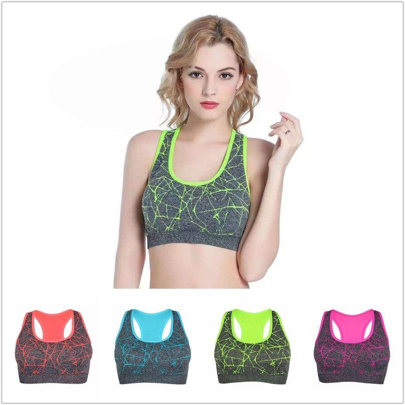 Underwear & Sleepwears Bras New Fashion Anti-vibration Beauty Back Bra Breathable Women Sports Bra Fitness Sports Tank Top Female Sport Yoga Bra Push Up Sports Bra