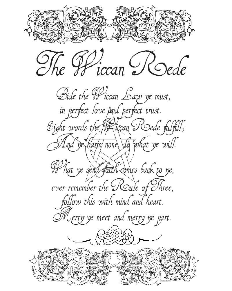 Charmed Series Book of Shadows: Wiccan Rede Formal Book Entry ...