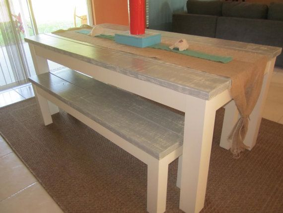 Handmade Farm House Style Dining Table By PurpleMermaidShop, $800.00