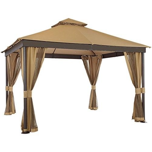 Garden Winds Replacement Canopy and Netting for Windsor Dome Gazebo RipLock 350