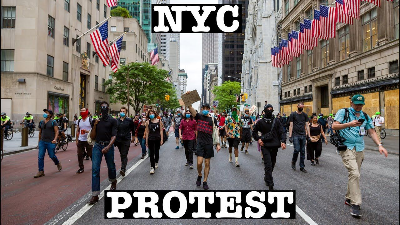 New York Protest Against Racial Injustice Walking Along Fifth Avenue Du In 2020 Racial Injustice New York Protest Places In New York