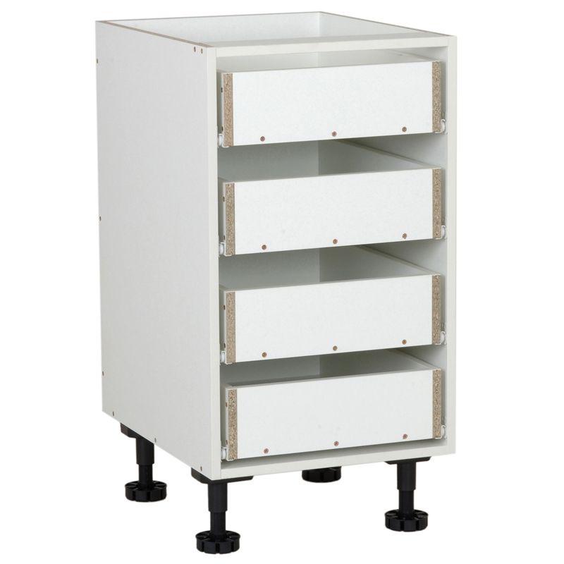 kaboodle 450mm 4 drawer base cabinet base cabinets drawers cabinet on kaboodle kitchen bunnings drawers id=24785
